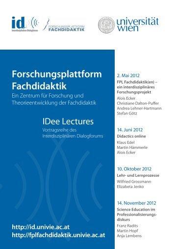 Forschungsplattform Fachdidaktik - Universität Wien Medienportal