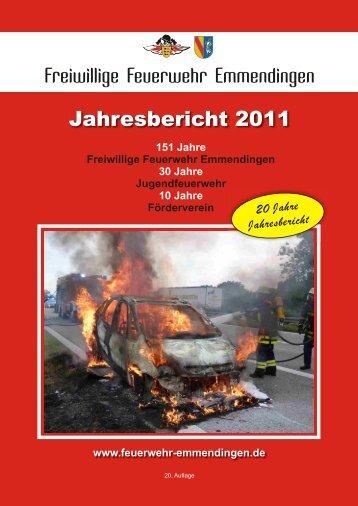 Jahresbericht 2011 - Feuerwehr Emmendingen