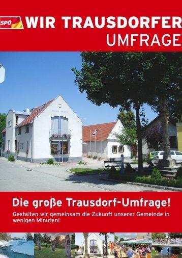 UMFRAGE - bei der SPÖ Trausdorf