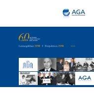 Leistungsbilanz 2013 I Perspektiven 2014 >>> - AGA ...