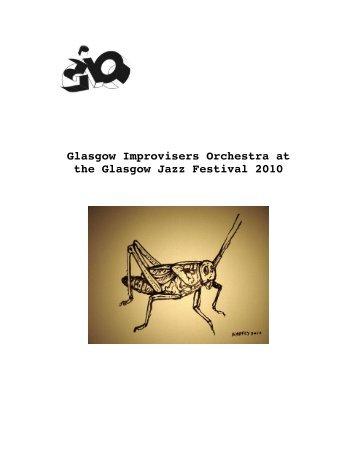 Glasgow Improvisers Orchestra at the Glasgow Jazz Festival 2010