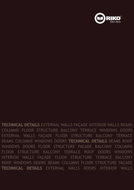 Technical Details External Walls Faa Ade Riko Hia E