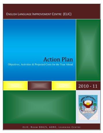 JU ELIC Annual Plan 2010-11 - MOE