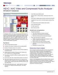 MTS4EAV7 HEVC AVC Video and Compressed Audio ... - Tektronix