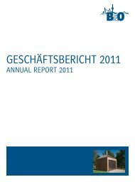 GeschäftsBericht 2011 - B&O - Lösungen für die Wohnungswirtschaft