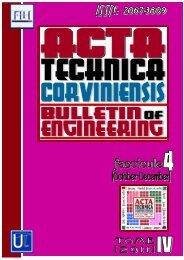 Untitled - Acta Technica Corviniensis