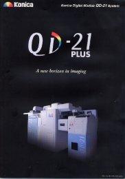 QD-21 Plus - FootPrints Equipment Inc