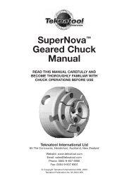 SuperNova™ Geared Chuck Manual - Teknatool