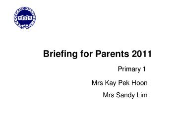 Briefing for Parents 2011