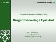 Fyns Amt - EPJ-Observatoriet