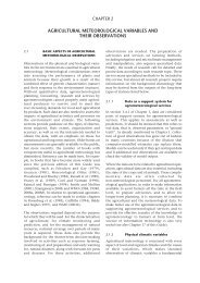 agricultural meteorological variables and their observations