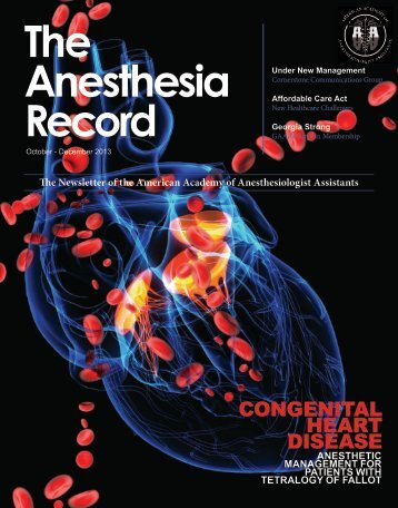 the anesthesia record - december 2013