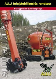 ALLU talajstabilizációs eszközök katalógusa - Best Machinery Kft.