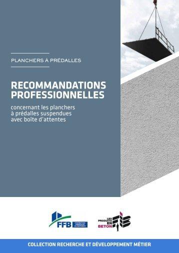 ReCommAnDAtionS pRoFeSSionnelleS - assainissement durable