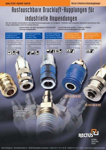 Austauschbare Druckluft-Kupplungen für Industrieanwendungen
