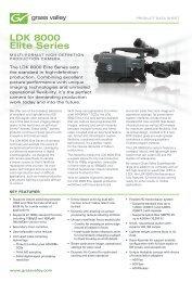 LDK 8000 Elite Series Multi-format High-definition ... - Rexfilm