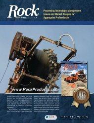 Rock Products 2012 Editorial Calendar - Mining Media International
