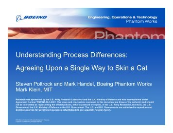 Understanding Process Differences: Agreeing Upon a Single Way to ...