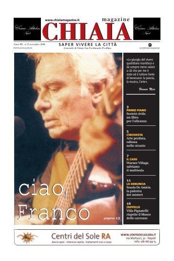 ciao, Franco - CHIAIA MAGAZINE