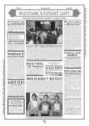 JARNÍ PLES WOHNOUTI - Mariánskolázeňské listy