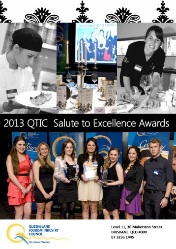 2013 QTIC Salute to Excellence Awards - Queensland Tourism ...