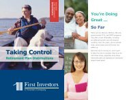 Taking Control - First Investors
