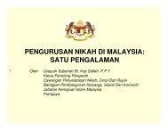 pengurusan nikah di malaysia: satu pengalaman - Jabatan ...