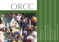 ORCC Information Leaflet - Oxfordshire Rural Community Council