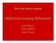 Millennials Leading Millennials - Learning Communities - Iowa State ...