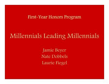 Millennials Leading Millennials - Learning Communities - Iowa State ...