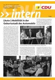 Ausgabe Juli/August 2012 - CDU Kreisverbands Mannheim