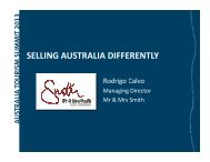 SELLING AUSTRALIA DIFFERENTLY - Tourism Australia