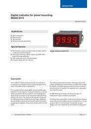 Digital indicator for panel mounting Model DI15 - Adinco bv