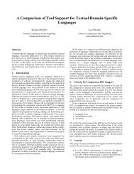 A Comparison of Tool Support for Textual Domain-Specific Languages ...