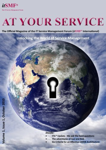October 2010: At Your Service - itSMF International