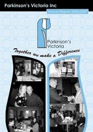 Annual Report - Parkinson's Victoria