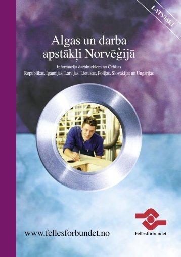 Algas un darba apstākļi Norvēģijā - Fellesforbundet