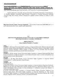 Bilgi İşlem Kurulu Çalışma Yönergesi - Erciyes Üniversitesi Tıp ...