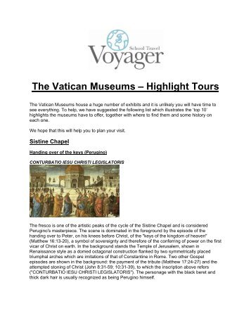 The Vatican Museums – Highlight Tours - School Travel