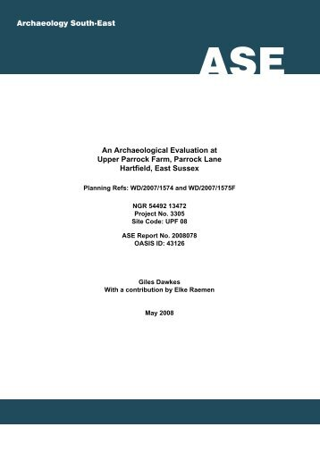 ASE front cover.ai - Archaeology South-East