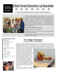 Infant-Parent Interaction Lab Newsletter - Waisman Center ...