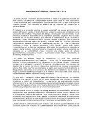 SOSTENIBILIDAD URBANA, UTOPÍA O REALIDAD Las áreas ...