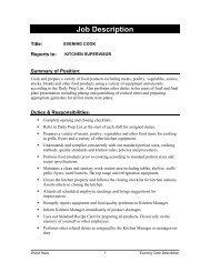 Job Description - The Wurst Haus