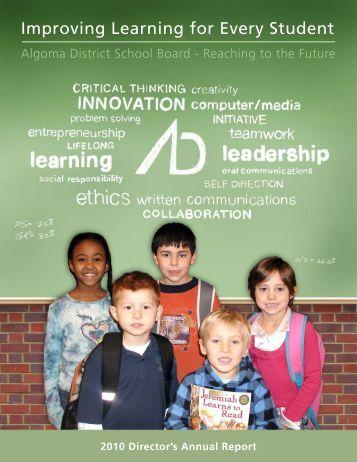 2010 Director's Annual Report - Algoma District School Board