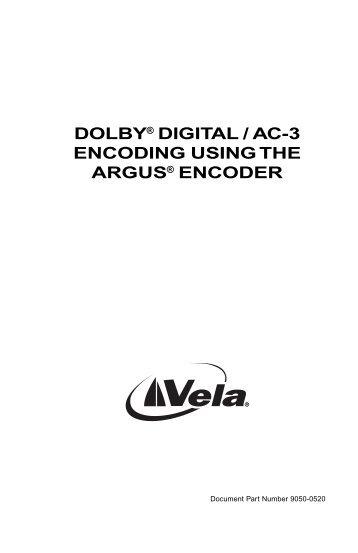 dolby® digital / ac-3 encoding using the argus ... - TBC Integration