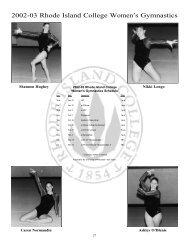 2002-03 Rhode Island College Women's Gymnastics