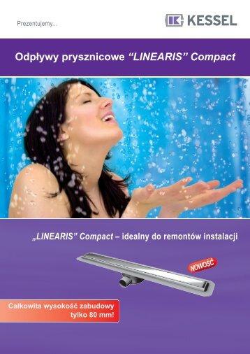 """Odpływy prysznicowe """"LINEARIS"""" Compact - Grast & MTB"""