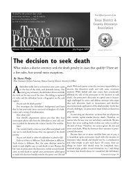 PROSECUTOR - Texas District & County Attorneys Association