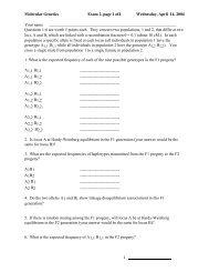 Molecular Genetics Exam 2, page 1 of4 Wednesday, April 14, 2004 ...
