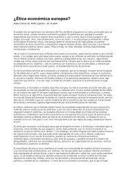 ¿Ética económica europea? - Fundación Étnor